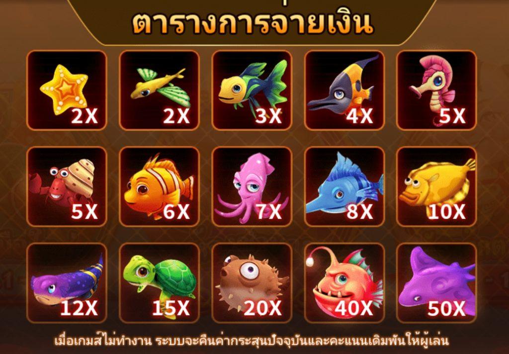 เกมยิงปลา ตุ๊กตานำโชคจับปลา เกมยิงปลาออนไลน์