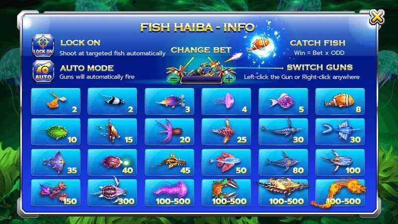 เกมยิงปลา Fish hunter hai ba เล่นคาสิโน